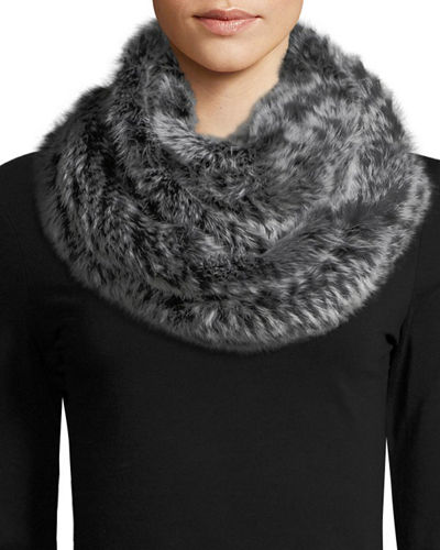 Rabbit Fur Eternity Scarf