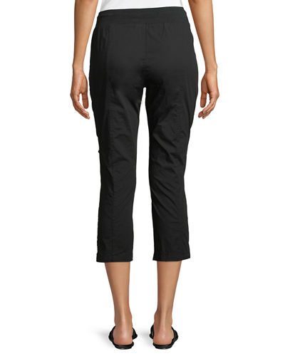 Kahiwa Ruched-Side Cropped Cargo Pants