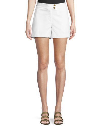 MICHAEL Michael Kors Cotton Snap-Waist Sailor Shorts