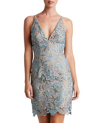 ALLIE CROCHETED LACE COCKTAIL DRESS