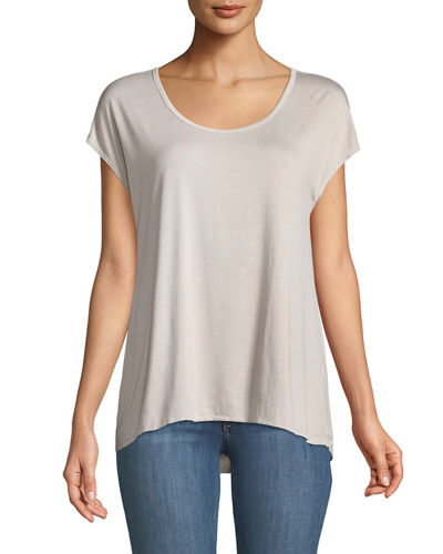 Cap-Sleeve Draped Tee