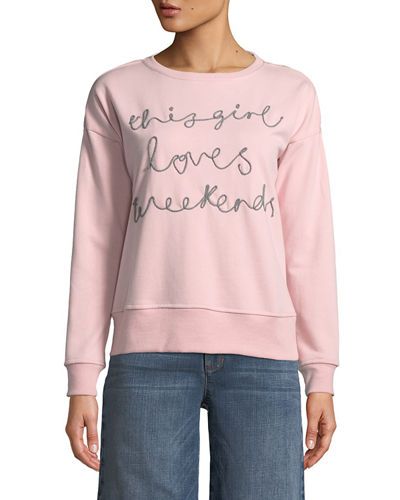 Weekends Embroidered Sweatshirt