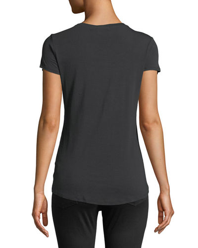 Scoop-Neck Fitted Tee