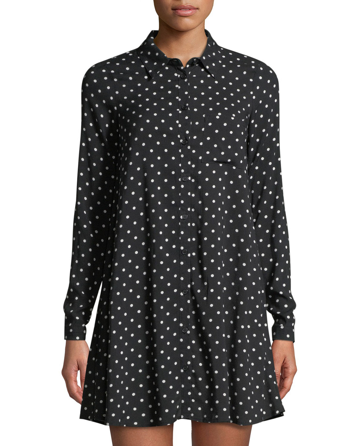 Camp Mini Dot-Print Shirtdress