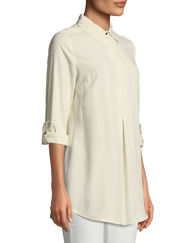 Tina Silk-Broadcloth Tunic