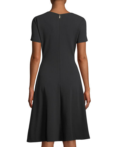 Short-Sleeve A-Line High-Low Dress