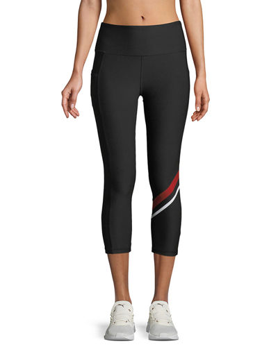 GX Striped Tummy-Control Capri Leggings
