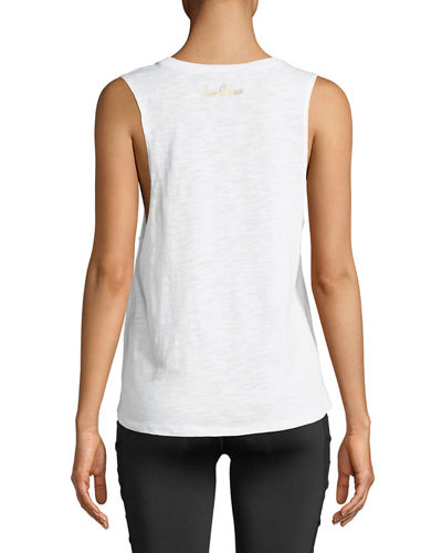 Graphic Slub Muscle Convo Tank