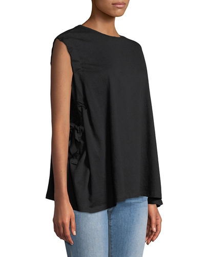 Tie-Arm Oversized Muscle Tee