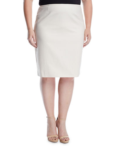 Stretch Pencil Skirt, Plus Size
