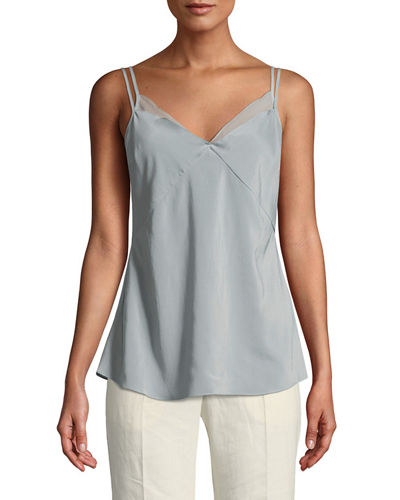 Layered Silk Camisole Top