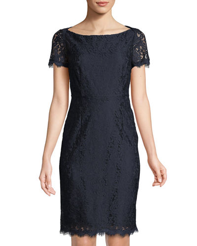 Ainsley Cap-Sleeve Lace Sheath Dress