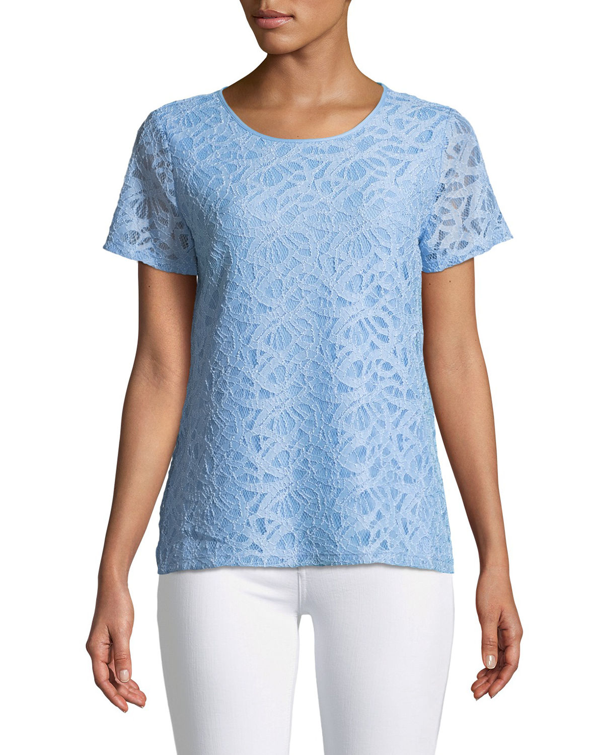 Lace Short-Sleeve Tee