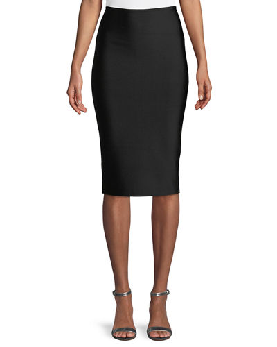 Bandage-Knit Midi Skirt