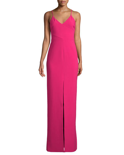 Brooklyn V-Neck Evening Gown