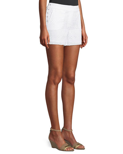 Eyelet Lace Tie-Side Shorts