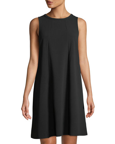 Double-Crepe Dress w/ Front Seams