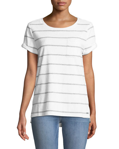 Striped Short-Sleeve Terry Tee