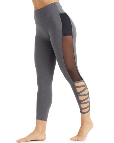 Kendall Invigorate Mesh-Side Capri Leggings