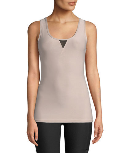 Power Mesh V-Stitch Muscle Tank