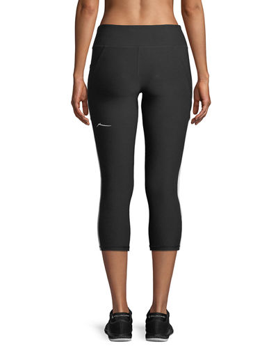 Studio Side-Striped Activewear Capri Leggings