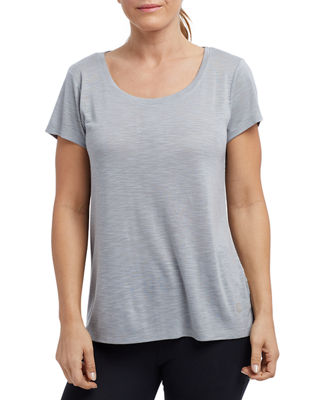 THE BALANCE COLLECTION Olive Slub Keyhole-Back Tee in Gray
