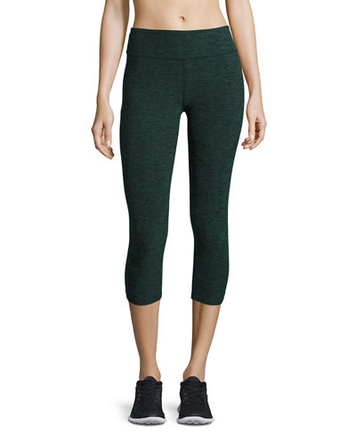 Space-Dye Capri Sport Leggings