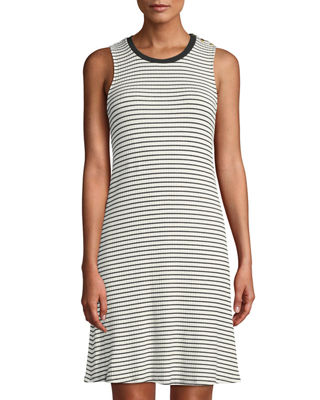 SLEEVELESS STRIPED SWING TANK DRESS