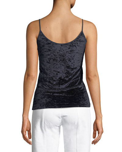Velvet Scoop-Neck Camisole Top