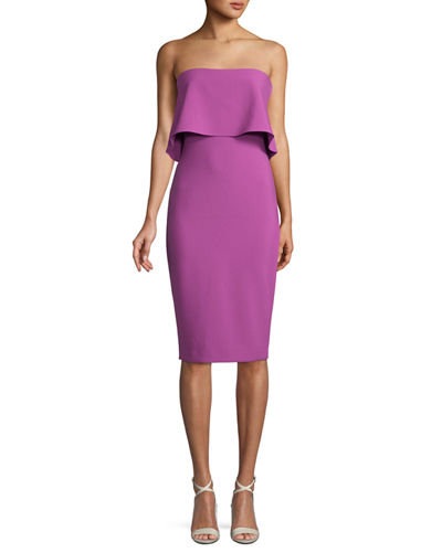 Driggs Strapless Popover Cocktail Dress