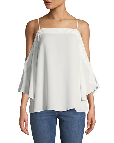 Laundry By Shelli Segal Cold-Shoulder Flowy Blouse