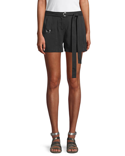 Laundry By Shelli Segal Grommet-Trim Tie Waist Shorts