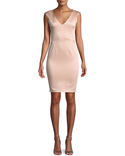 Nina V-Neck Mini Bodycon Dress