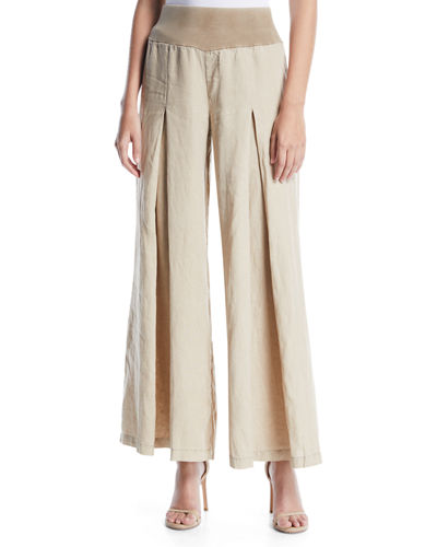 Basil Wide-Leg Linen Pants