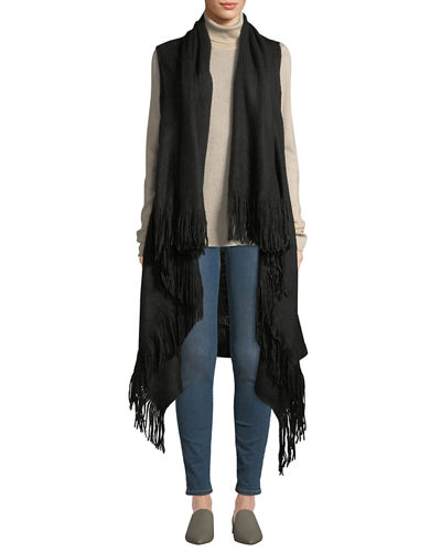 Feels Like Home Fringed Duster Vest