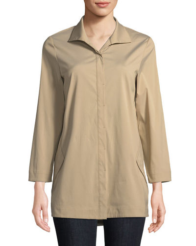 Lafayette 148 New York Marla Placket-Front Blouse