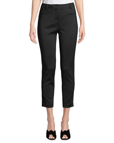 Slim-Fit Welt-Pocket Cropped Pants