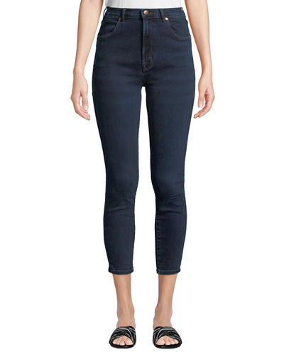 Alana Bleached High-Rise Skinny Ankle Jeans