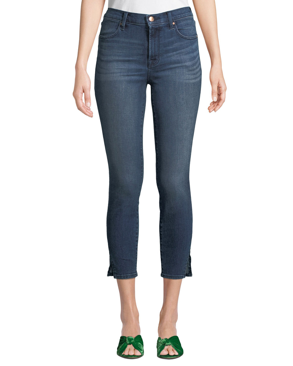 Alana Bleached High Rise Skinny Ankle Jeans