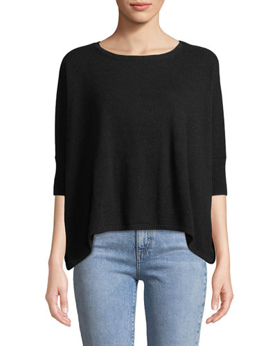 Minnie Rose Cashmere Cropped Crewneck Sweater