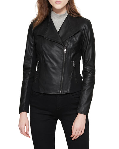 Felix Best Seller Asymmetric-Zip Leather Moto Jacket