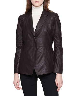 GLOVE LAMB LEATHER BELTED JACKET