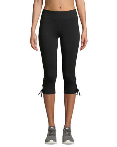 Marc NY Performance Cropped Lace-Up Active Leggings