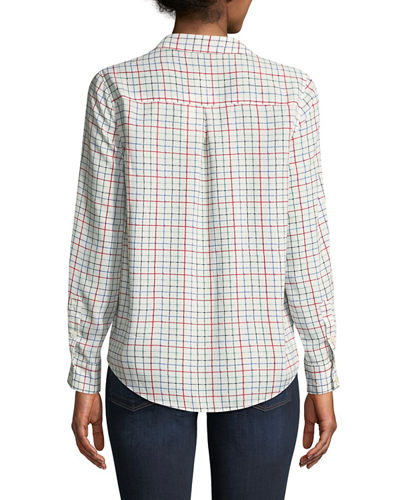 Cartel Checkered Button-Front Blouse