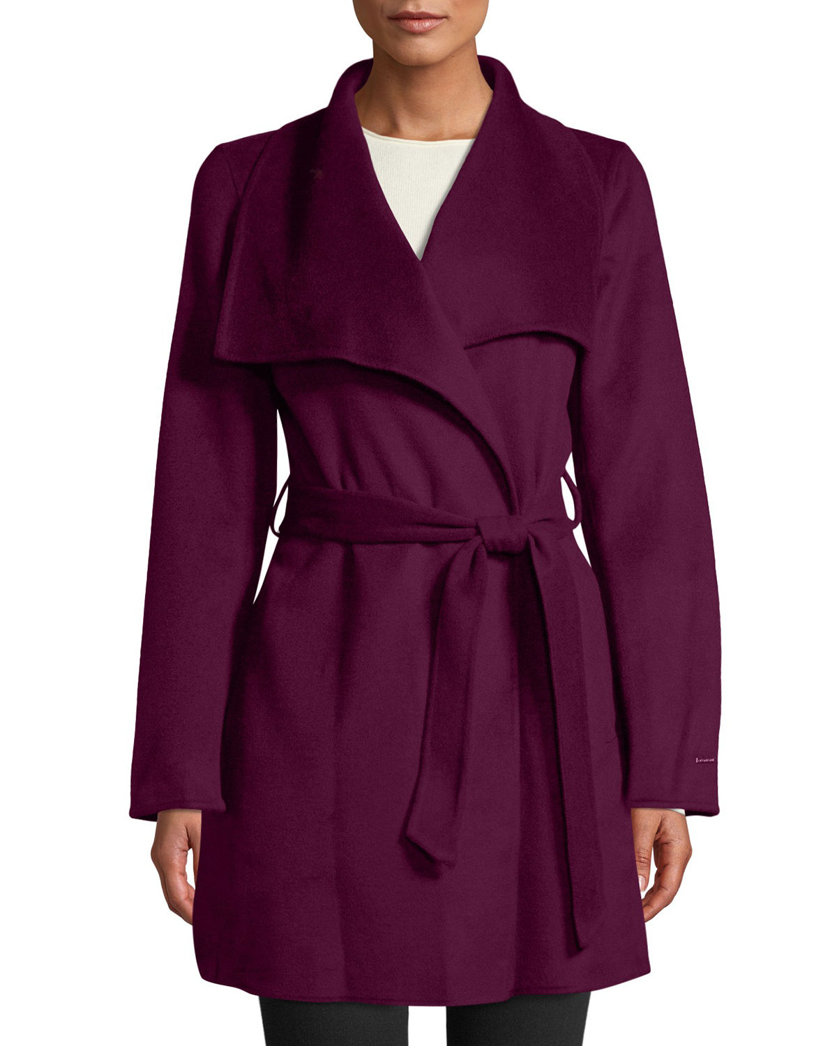 Ella Double-Face Wool Wrap Coat