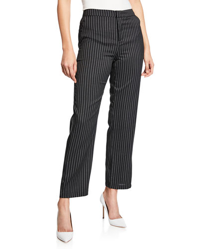 Pinstripe Cropped Trousers