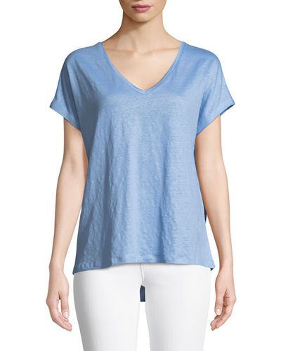 Majestic Paris for Neiman Marcus Linen Short-Sleeve T-Shirt