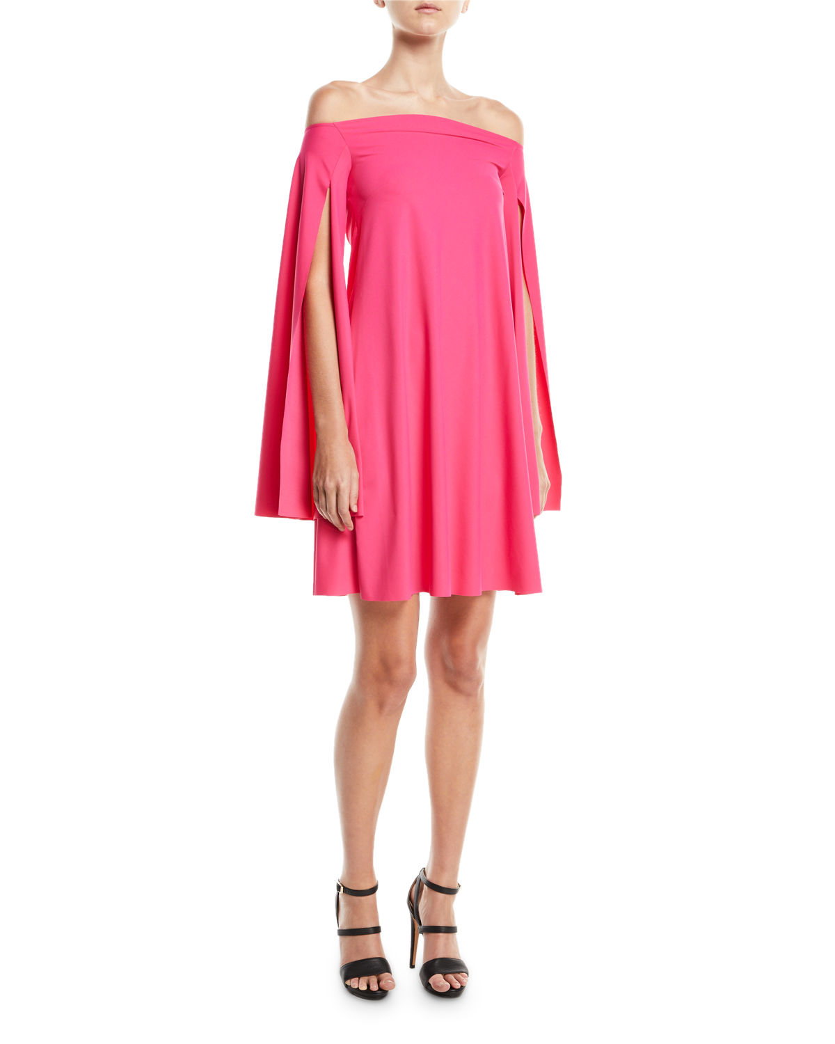 Chiara Boni La Petite Robe Dresses MAMI OFF-THE-SHOULDER CAPE-SLEEVE COCKTAIL DRESS
