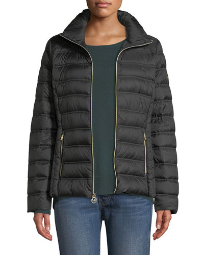 8c9cf7920e72 MICHAEL Michael Kors Short Packable Puffer Jacket with Removable Hood