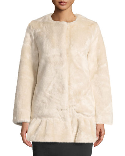 Faux-Fur Mink Coat
